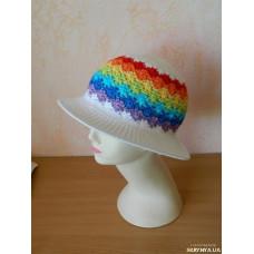 Шляпка для девочки Радуга