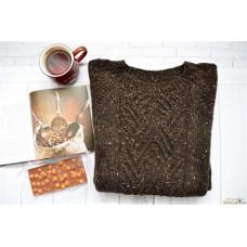 Шерстяной свитер Бельгийский шоколад с орешками