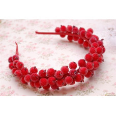 Обруч ободок венок с красными ягодами калины