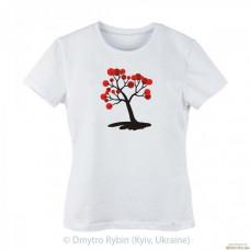 Эксклюзивная футболка Дерево с красными плодами