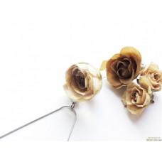 Серебряный кулон с кремовой розой