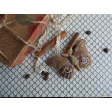 Брошь из натуральной замши Бабочка